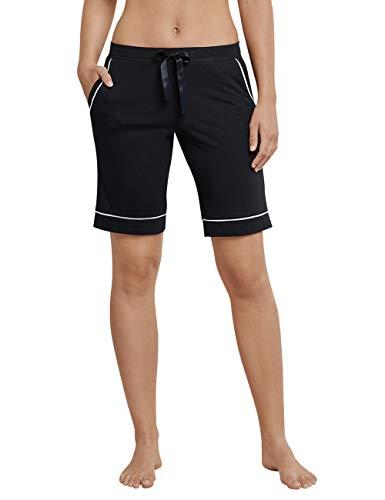 Schiesser Damen Mix & Relax Jerseybermuda' Schlafanzughose, Schwarz (schwarz 000), 34...