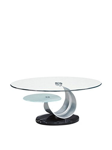 Modern Coffee Tables Usa: Online Global Furniture USA T161 Clear/Frosted Glass/Black