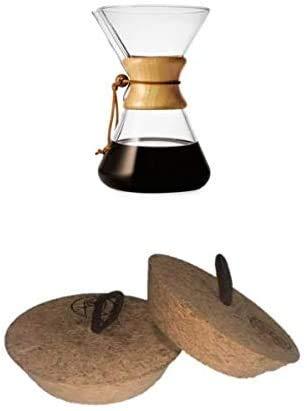 Tapa de calor y polvo para Chemex verter sobre jarra de café