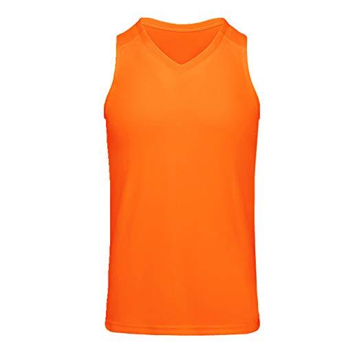 Herren Ärmelloses Basketball-Shirt aus dünnem Netzstoff, atmungsaktiv Gr. XXL, Orange
