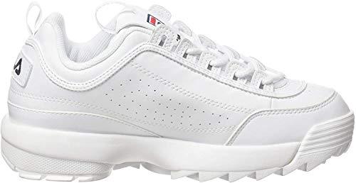 Fila Wmn Disruptor Low 1010746-1fg, Zapatillas para Mujer, Blanco (White 1010746/1fg), 37 EU