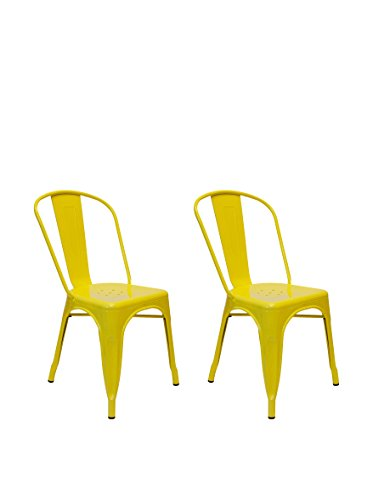 Aeon Furniture Side Chair in Yellow - Set of 2