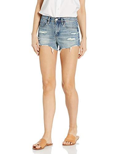[BLANKNYC] womens High Rise Medium Wash Luxury Clothing Barrow Denim Jean Short, Top Notch, 31-32 US