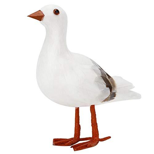 Cafopgrill Simulación de Aves, Hermosa y Elegante simulación Gaviota de Aves Artificiales Decoración de jardín Accesorios de Adorno Figuras de Aves Modelo Animal Juguetes