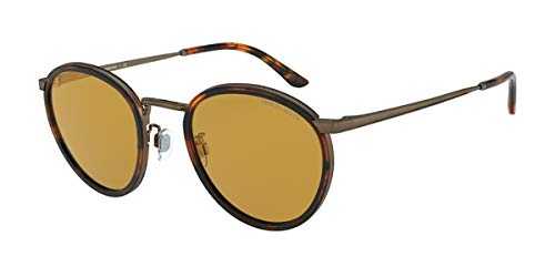 Armani Herren 0AR 101M Sonnenbrille, Havana/Light Brown, 50
