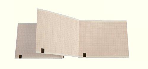 Paquete plegado de papel térmico para ECG compatible con Fukuda OP-222TE