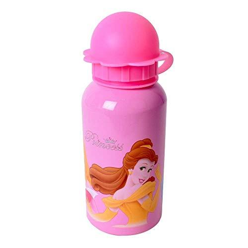 Te-Trend Disney Princess Aluminio Botella 330ml un Debe para Todos los Fanáticos