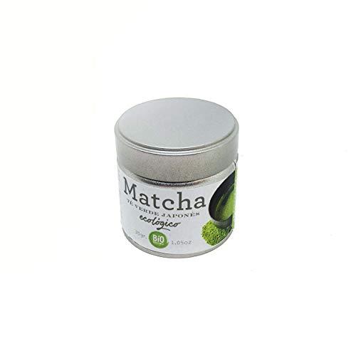 LA TETERA AZUL Té Verde Matcha Orgánico Premium. Té Ecológico Matcha Japones. Infusión Ceremonial Milenaria. Bote De 30 Gr.