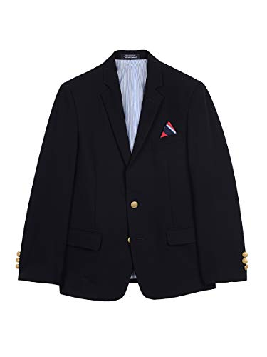 IZOD Boys' Big Brass Button Blazer Jacket, Blue Indigo, 8