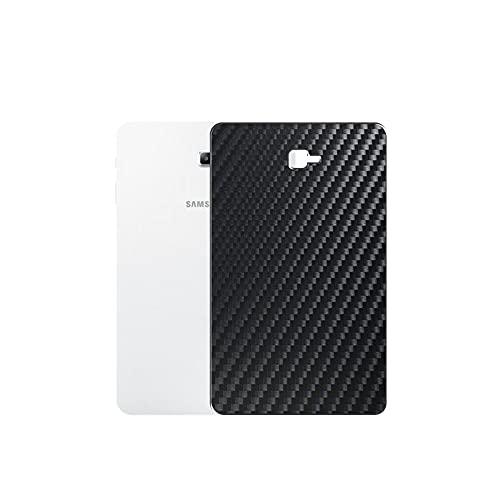 VacFun 2 Piezas Protector de pantalla Posterior, compatible con Samsung Galaxy TAB A 10.1 2016 sm T580 T585 10.1', Película de Trasera de Fibra de carbono negra Skin Piel