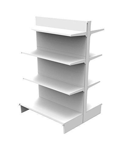 Generico Faldón Market de plastificado blanco – L95 cm P89 cm H140 cm