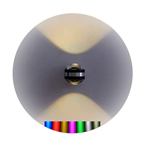 8W LED Wandleuchte Sieben Farben Farbwechsel Effekt Wandlampe 360° Drehbar Design Wandleuchte Rund Wand-beleuchtung Modern Stylish Wand Leuchte/lampe WandSpot Für Flur Gehweg Ø 8cm