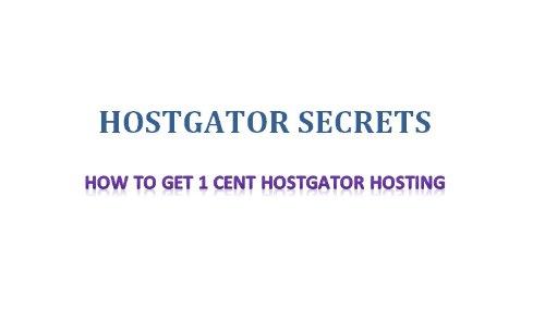 How to get 1 cent HostGator hosting. (HostGator Secrets)
