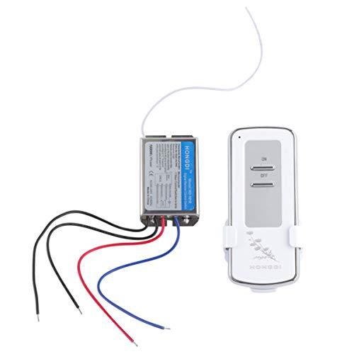 vosarea Interruptor de mando a distancia inalámbrico 220V a canal único interruptor de control remoto para lámpara