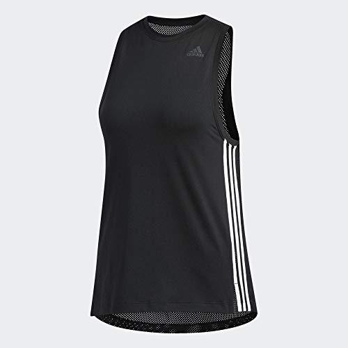 adidas Damen 3-Streifen Loose Tanktop, Black, S