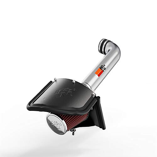 K&N Cold Air Intake Kit with Washable Air Filter: 2012-2018 Jeep (Wrangler, Wrangler JK) 3.6L V6, Polished Metal Finish with Red Oiled Filter, 77-1566KP