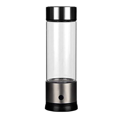 Wasserstoff-Wasserflasche, tragbar, wasserstoffreiches Wasser, Ionisator-Flasche, SPE PEM-Technologie, wiederaufladbar, ionisierter Wassergenerator, Anti-Aging, antioxidative Glasflasche, 450 ml