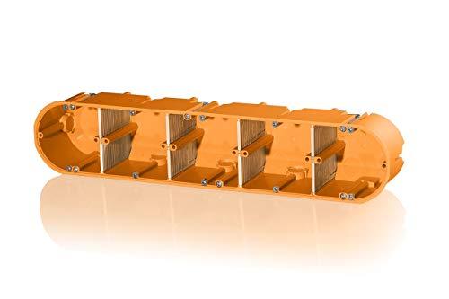 f-tronic Hohlwand-Gerätedose massiv, 5-Fach, 60mm tief, HW50, Inhalt: 5, 5 V, 5 Stück