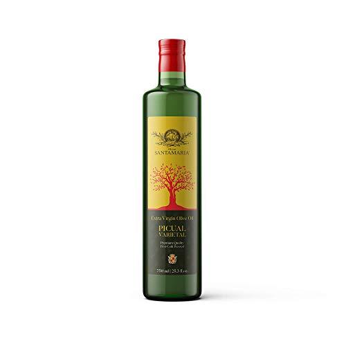 Olivar SANTAMARIA First Cold-Pressed Premium Quality Extra Virgin Olive Oil Picual Variety, Spain, 25.3 Oz (750 ml)