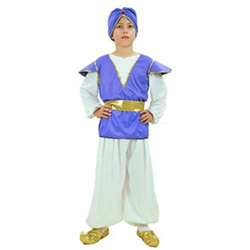 wetry - Disfraces Aladdin Princesa Jazmín y Príncipe Árabe para Niñas y Niños 110-140CM