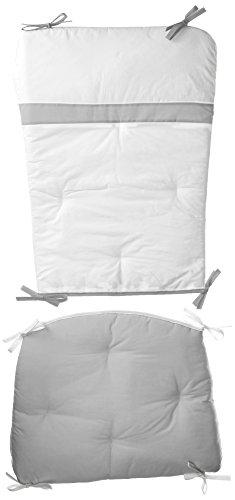 Baby Doll Bedding Rocking Chair Cushion Pad Set, Grey