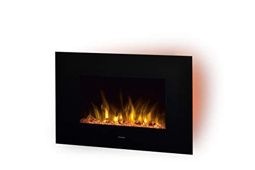 DIMPLEX - Elektrokamin Wandkamin Toluca De Luxe - LED-Lichter - Patentierter Optiflame Flammeneffekt - Inklusive Fernbedienung und Bluetooth Speaker - Schwarz