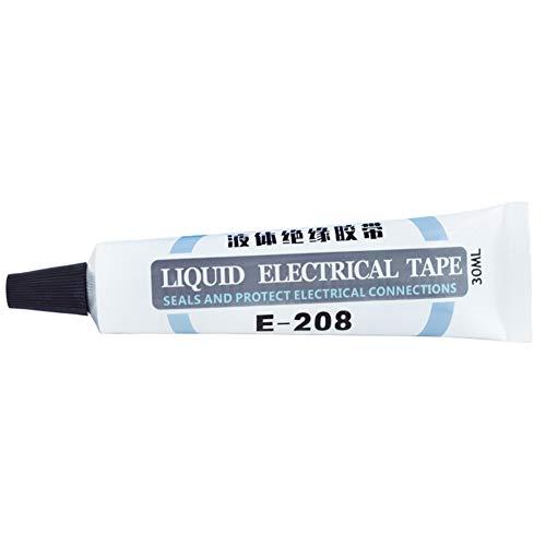 Crazyfly Flüssiges Isolierband, 28,3 g, wasserdichtes, schnell trocknendes Isolierrohr, hochtemperaturbeständig, schwer entflammbarer Kleber für Elektro (schwarz/grau)