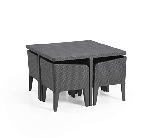 Rattan Cube Dining Set 4 Seater
