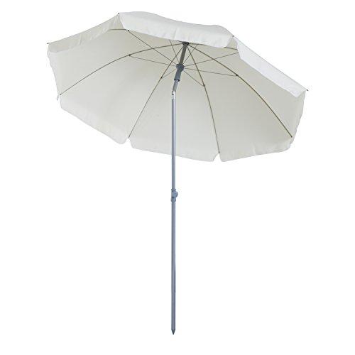 Outsunny Parasol inclinable octogonal de Jardin Ø 2,2 x 2,3 H m métal Polyester crème