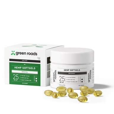 Green Roads Hemp Oil Softgels - 750mg + Everyday Stress Relief & Wellness Support