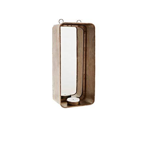 Madam Stoltz hanger kandelaar met spiegel, koper Afmetingen: 11x8x25 cm