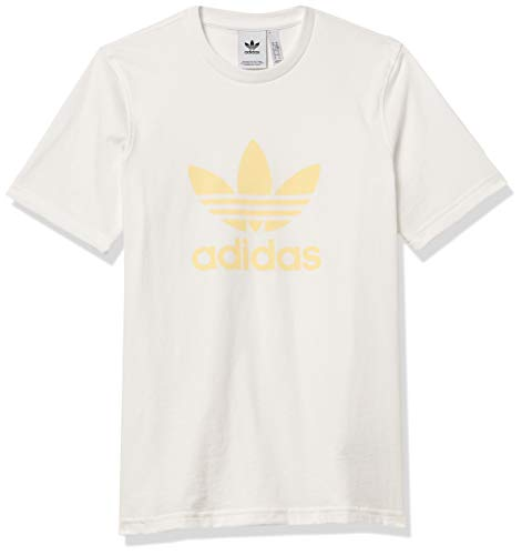 adidas Originals Men's Trefoil T-Shirt White/Easy Yellow Small