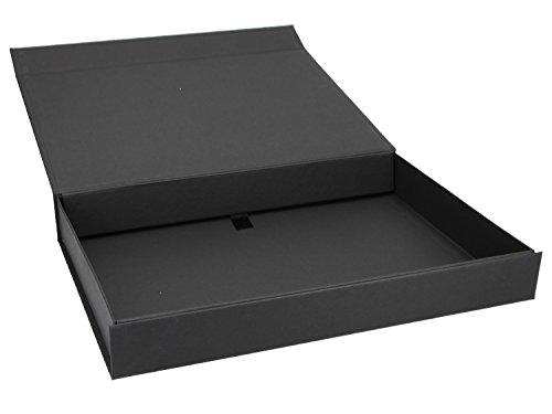 Magnet Geschenkbox (A4) 31x22x4 cm Geschenkverpackung Verpackung Schachtel Geschenkkarton Geburtstag, Artikel Farbe:schwarz matt Naturpapier