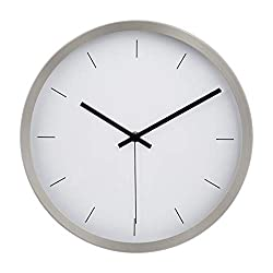 AmazonBasics 12 Modern Wall Clock - Nickel