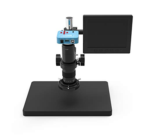 KaiLiwei Professional Digital Microscope with LED Lights,1080p Camera Recorder Video Microscopes for Adult Kids Product Inspection PCB Collection Identification Biological Observation (638camera)