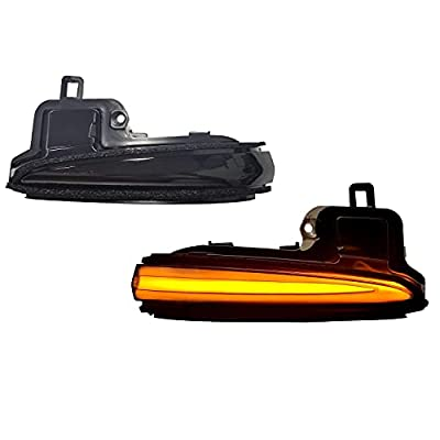 KYYET Left Right Led Side Mirrors Sequential Dynamic Turn Signal Lights Indicator Strip Compatible with Toyota Tacoma 2016-2021, RAV4 XA50 2019-2021, Highlander XU70 2020-2021 (Smoke lens)