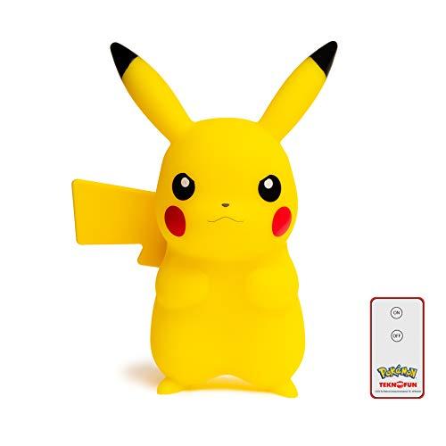 Teknofun Pikachu Lampara Led 25 cm + Control Remoto Pokemon, Color Amarillo (TKFPO811372)