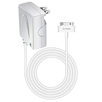 Cellet 5 Watt  1 Amp  Home/Wall Charger Compatible for iPhone 4S/4/3GS/3G/2/1 iPad  1,2,3,4th Generation  iPod Touch  1,2,3,4th Generation  Nano  1,2,3,4,5,6th Generation  Shuffle  MFI Certified