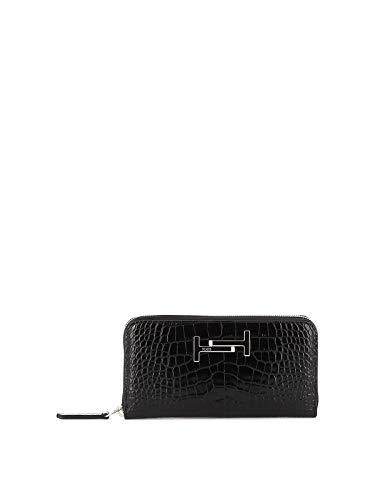 Tod's Luxury Fashion Damen XAWAMEA0400M75B999 Schwarz Leder Brieftaschen | Herbst Winter 19