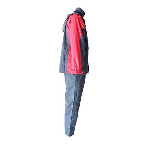 Générique Baoblaze Vestes à Capuche Coupe-pluie Imperméable Moto Pluie Costume Unisexe Capuche Ajustable pour Activités Plein Air, Cyclisme - rouge, XL