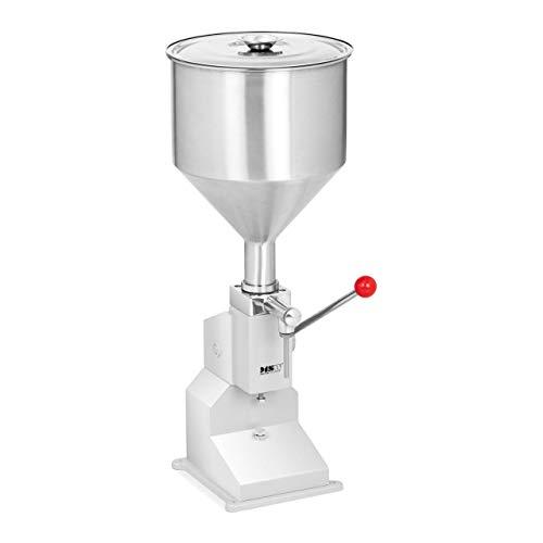 MSW MSW-FMM-01 Abfüllmaschine manuell Abfüller Füllmaschine 5 bis 50 ml 10,6 l Cremes Pasten Öl Essig abfüllen