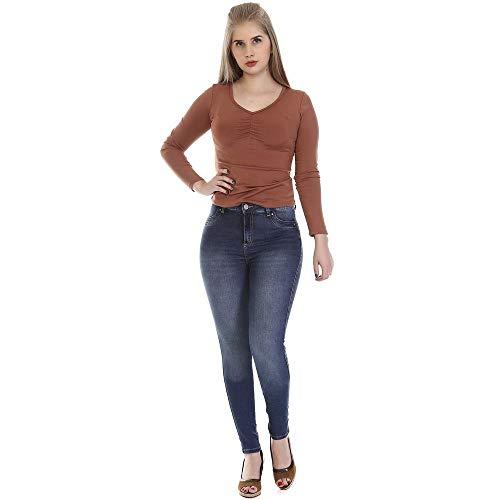 Calça jeans feminina levanta bumbum 264838 36