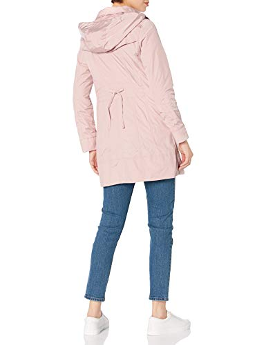Cole Haan Women's Packable Hooded Rain Jacket with Bow, Canyon Rose, X-Small Petite, 356PP990