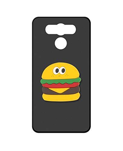 Sunrive Kompatibel mit Elephone P9000 Hülle Silikon, Ständer Fingerhalter Fingerhalterung Handyhülle matt Schutzhülle Etui Hülle (Hamburger) MEHRWEG