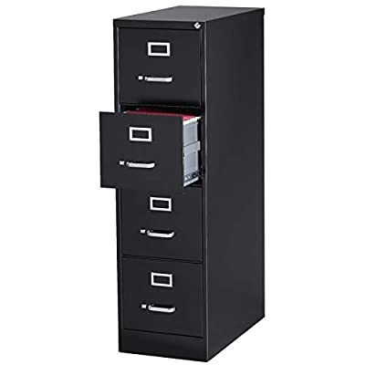 "Pemberly Row 25"" Deep 4 Drawer Letter File"