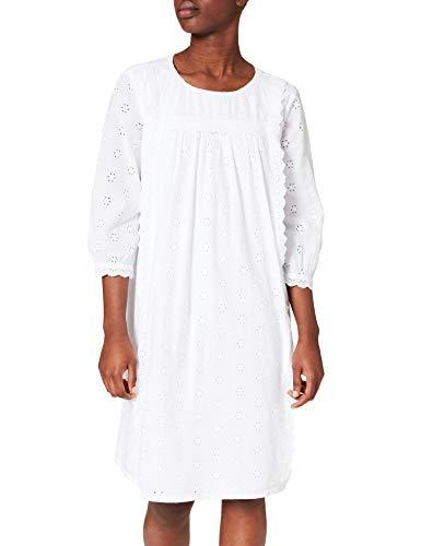 ESPRIT Damen 021EE1E326 Kleid, 100/WHITE, 40