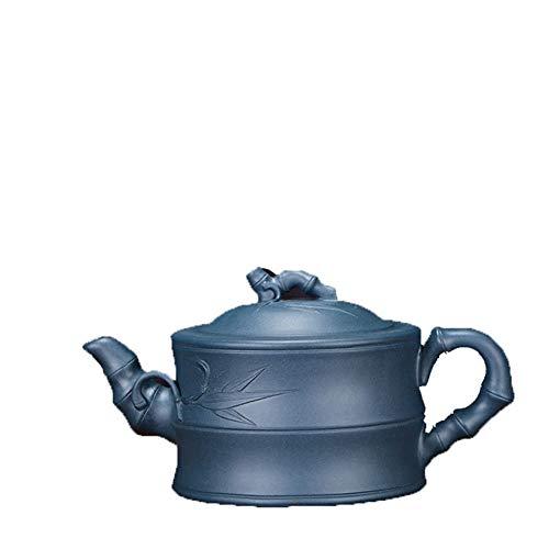 HePing Wu Teekanne Erz Tag Qingni Bambus Tee Teekanne Derivat Acting im Auftrag von Werbeangebote angepasst (Color : Purple mud)