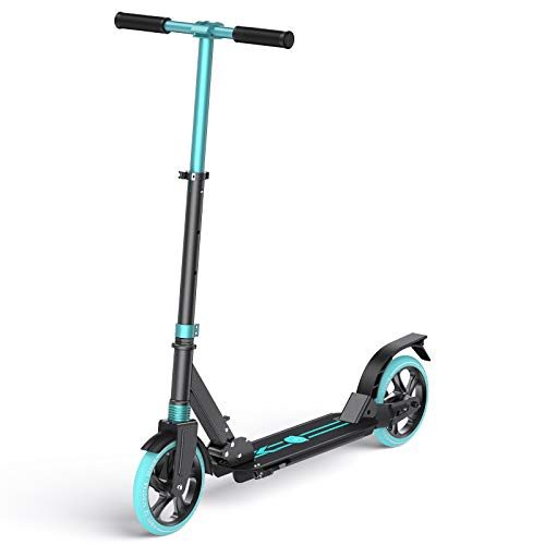 8inch Big Wheels Caroma Scooters for Teens 12 Yeas and Up Quick-Release Folding System Dual Suspension System Best Scooters for Adults and Teens Scooter with Big Wheels 220LB Weight Limit