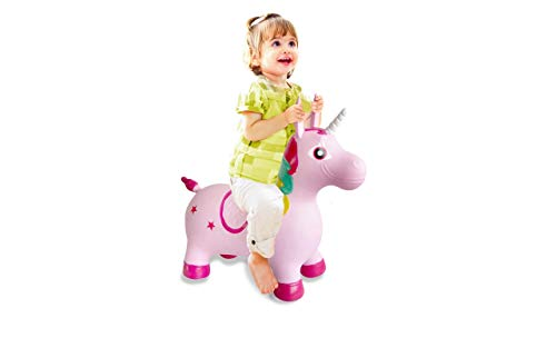 Jamara- Unicorno Animale Cavalcabile, Multicolore, 460316