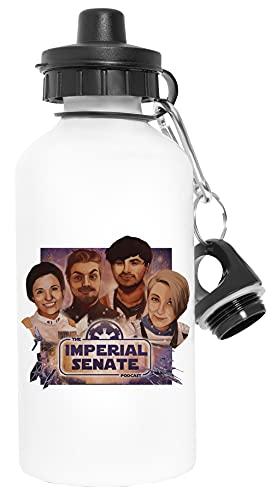 Imperial Senate Artwork - Imperial Senate Podcast Deporte Viaje Blanco Botella De Agua Metal Prueba de Fugas Sport Travel White Water Bottle Leak-Proof
